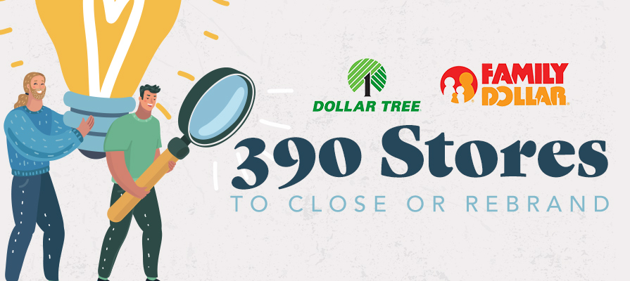 Dollar Tree to Shutter 390 Stores and Rebrand 200 More
