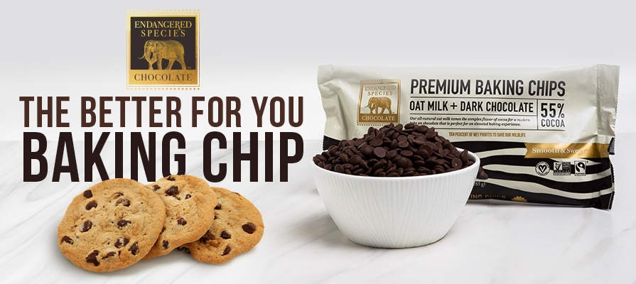 Endangered Species Chocolate Launches First Plant-Based Milk Chocolate Chip