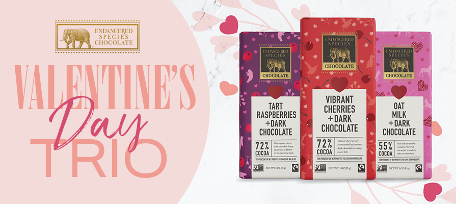 Endangered Species Chocolate Introduces Valentine's Day Trio