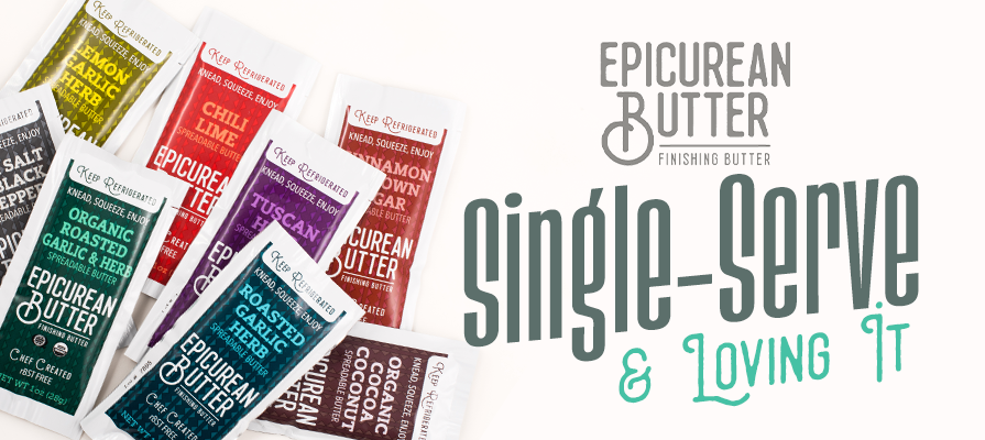 Epicurean Butter Introduces Convenience With Single-Serve Squeeze Packs