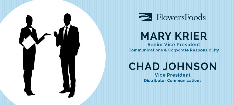 Flowers Foods Announces Promotions in Corporate Relations for Mary Krier and Chad Johnson