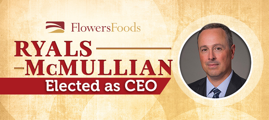 Flowers Foods Elects Ryals McMullian CEO Effective May 2019; CEO Allen L. Shiver To Retire