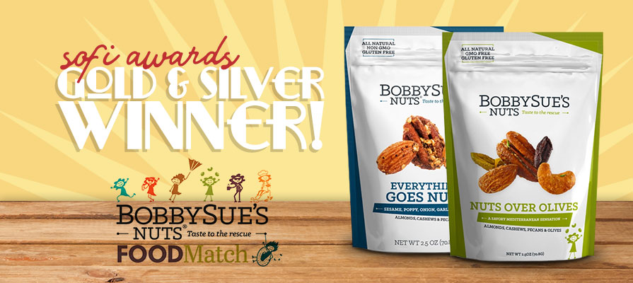 FOODMatch Partner BobbySue's Nuts Wins Gold and Silver SOFIs