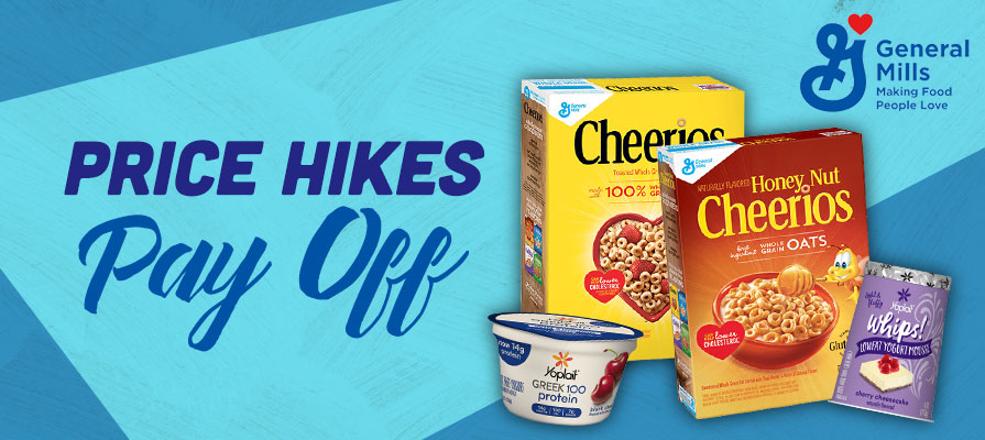 General Mills Price Hike Pays Off