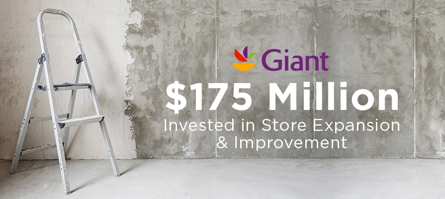 Giant Food Invests $175 Million in Store Expansion and Improvement
