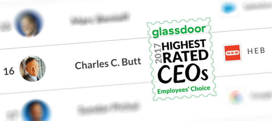 H-E-B CEO Charles Butt Named as Top 20 CEO by Glassdoor Employees' Choice Awards