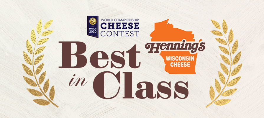 Henning's Cheese Captures Three Awards at the 2020 World Cheese Contest