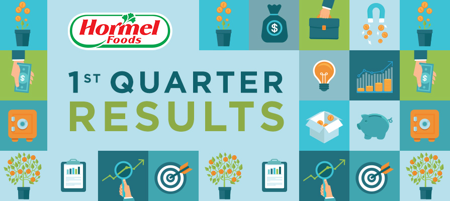 Hormel Foods Reports First Quarter Results