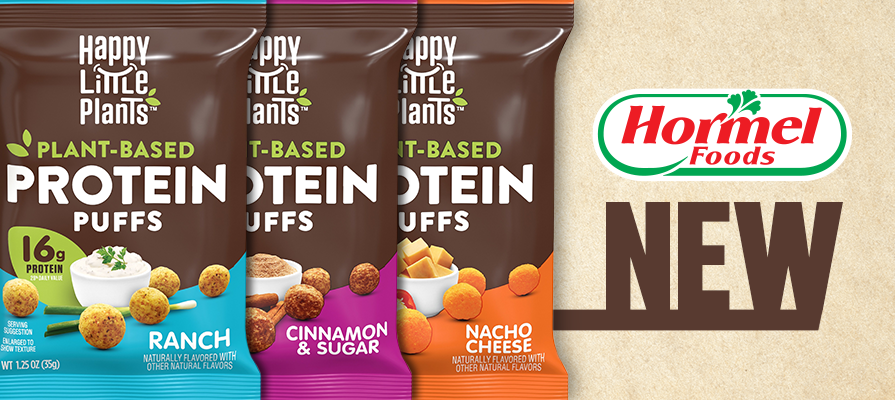 Hormel's Happy Little Plants® Brand Launches New Plant-Based Protein Puffs