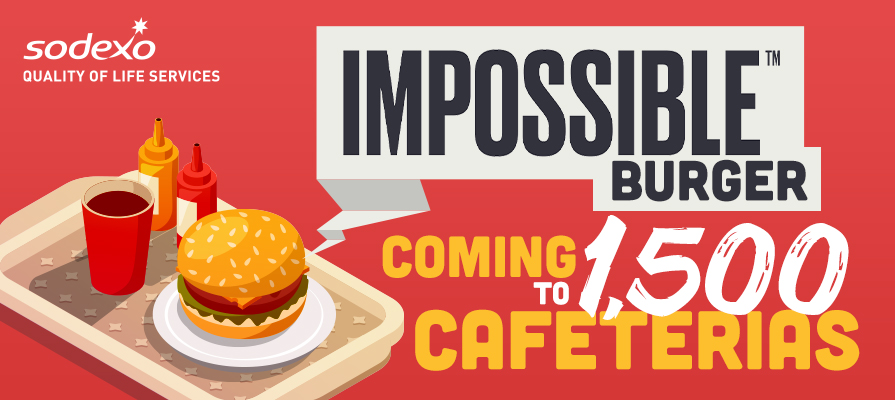 Impossible Foods to Debut in 1,500 Cafeterias