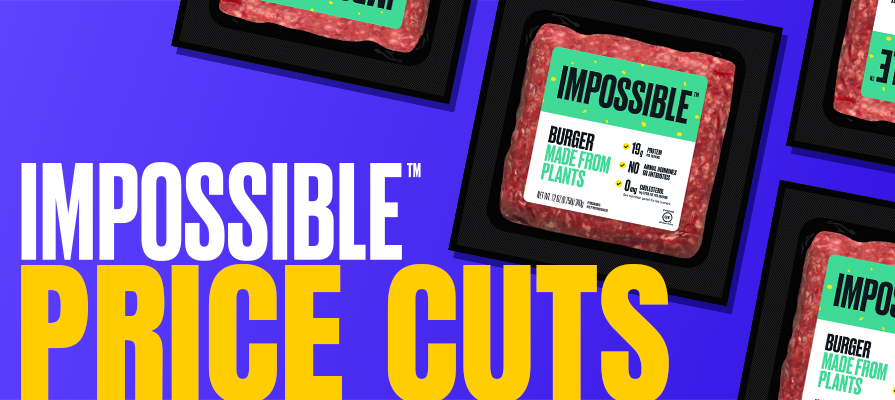 Impossible Foods Delivers Double-Digit Price Reductions for the Second Time in One Year