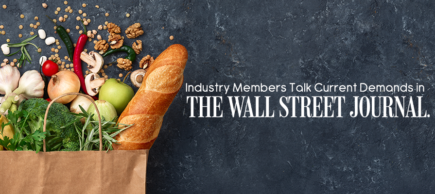 Industry Members Discuss Surge in Grocery Demand, Supply Chain, and More in WSJ Exclusive