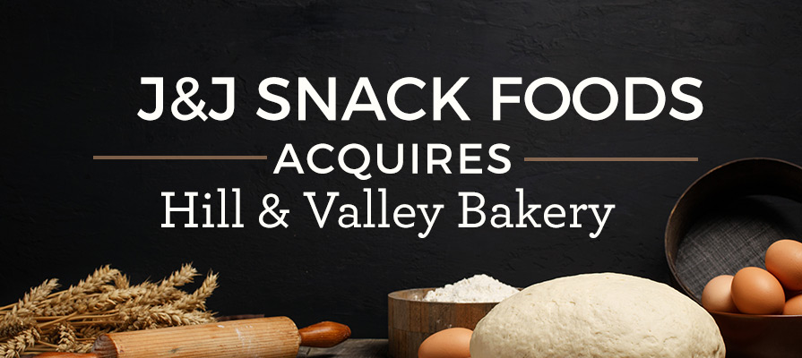 J&J Snack Foods Acquires Hill & Valley Inc.
