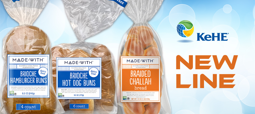 KeHE Exclusive Brand, MADE•WITH™, Introduces New Line of Clean Ingredient Buns and Loaves; Ben Friedland Shares