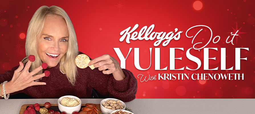 Kellogg's® Crackers And Award-Winning Actress And Singer Kristin Chenoweth Spread Holiday Cheer With 'Do It Yuleself' Recipes