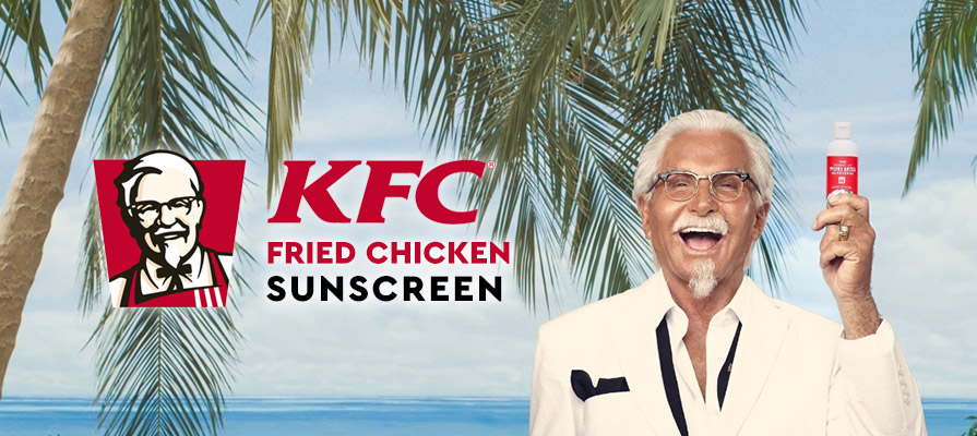 KFC U.S. Spearheads Chicken-Scented Sunscreen