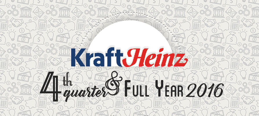 Kraft Heinz Reports Fourth Quarter and Full Year 2016 Results
