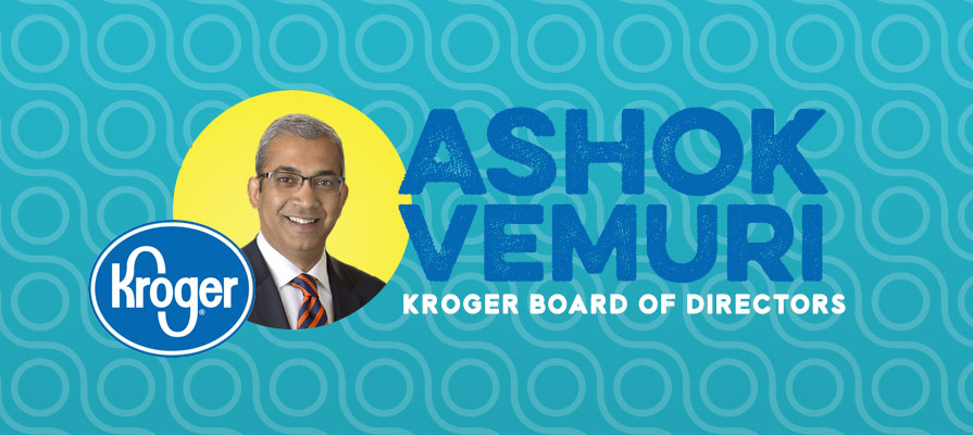 Ashok Vemuri Elected to Kroger Board of Directors