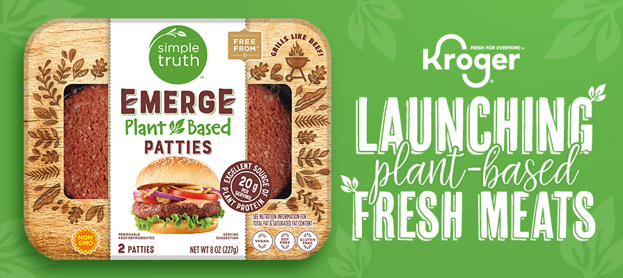Kroger's Simple Truth® Brand Launches Emerge™: Plant Based Fresh Meats