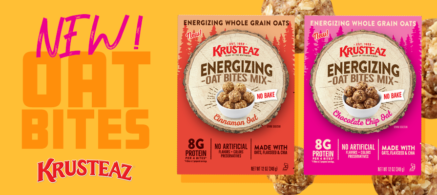 Krusteaz Debuts New No-Bake Protein Oat Bites Mix