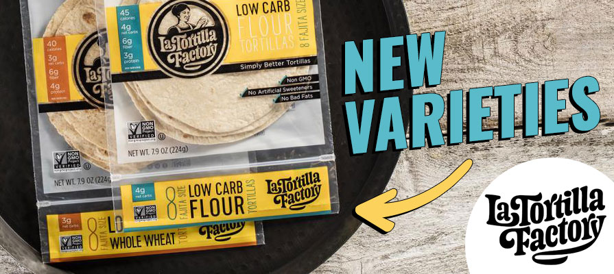 La Tortilla Factory Releases Two New Tortillas: Organic Low Carb and Low Carb High Fiber Quinoa & Flax