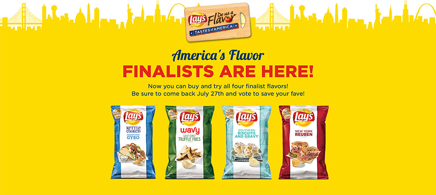 Lay's Potato Chips Unveils The Four Finalists Vying For $1 Million Grand Prize In The Do Us A Flavor Contest