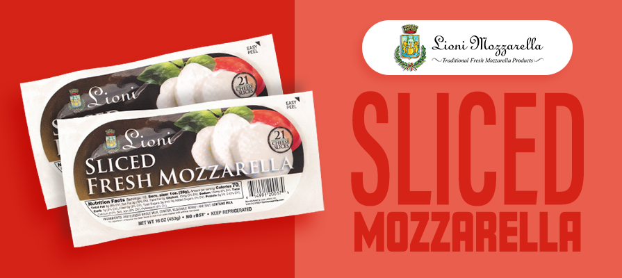 Lioni Launches New Packaging for Fresh Sliced Mozzarella
