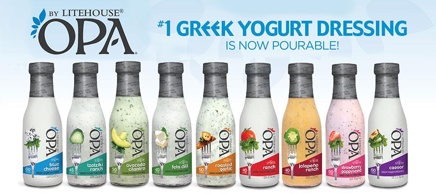 OPA by Litehouse™ Greek Yogurt Dressings Offer Convenience, Court Millennials
