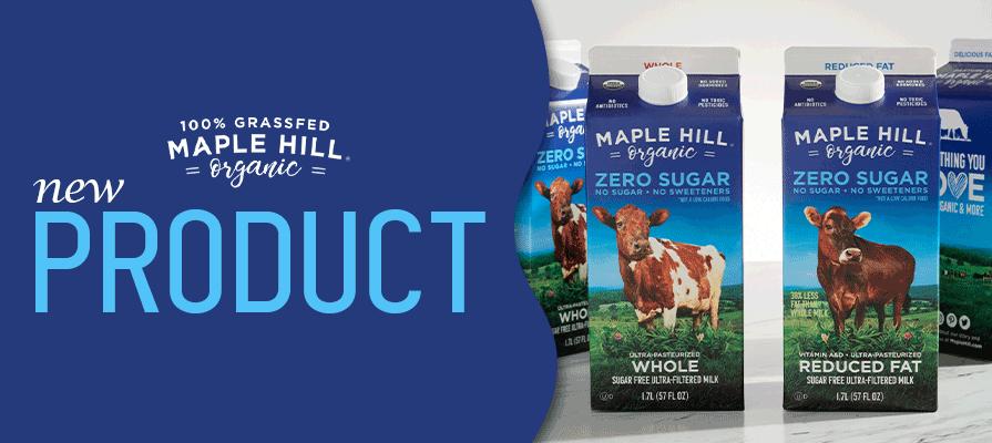 Maple Hill Creamery Launches Zero Sugar Organic Milk