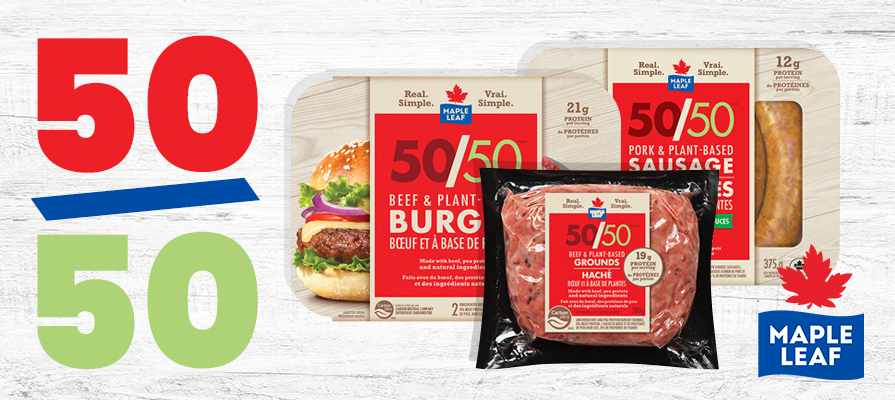 Maple Leaf Foods Launches Maple Leaf 50/50™