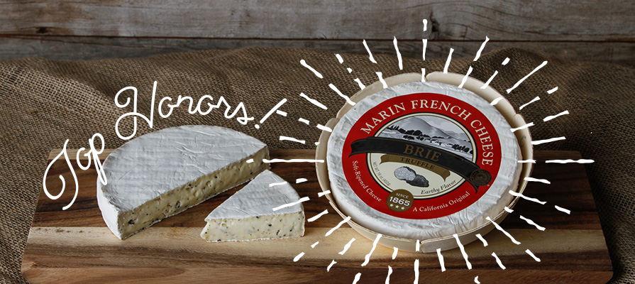 Marin French Earns Top Honor at World Championship Cheese Contest for Triple Crème Brie with Truffles