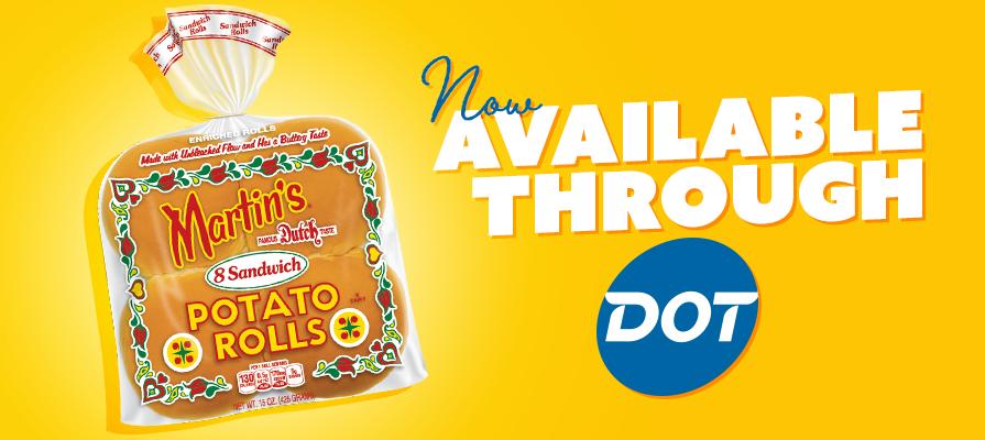 Martin's Potato Rolls Now Available Through Dot Foods