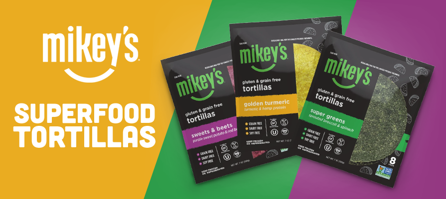 Mikey's™ Introduces Gluten and Grain-Free Superfood Tortillas