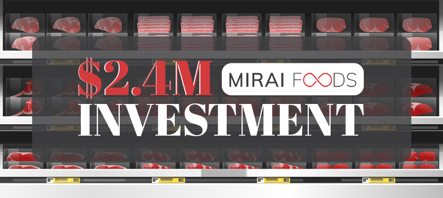 MIRAI FOODS Raises $2.4M For Its Non-Genetically Modified Cultivated Meat