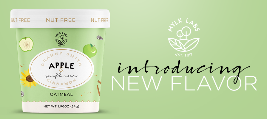 Mylk Labs Launches Granny Smith Apple & Sunflower Cinnamon Oatmeal Cups