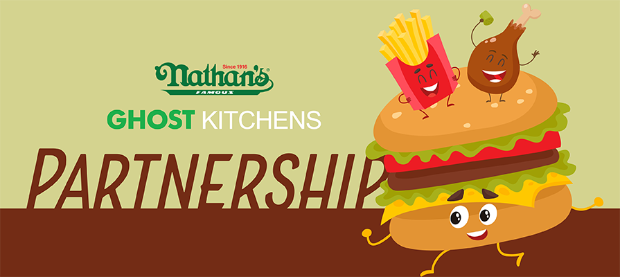 Nathan's Famous Signs Deal With Ghost Kitchen Brands to Open 100 Non-traditional Locations by End Of 2021