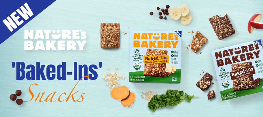 Nature's Bakery Introduces New Organic 'Baked-Ins' Snacks Made With Fruits & Vegetables