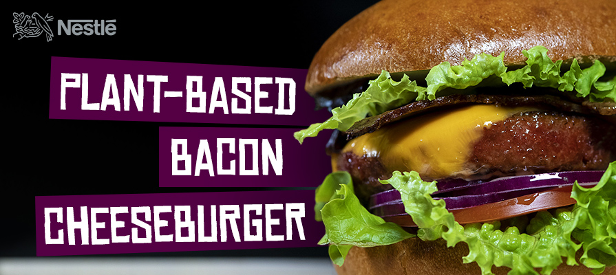 Nestlé First to Plant-Based Bacon Cheeseburger