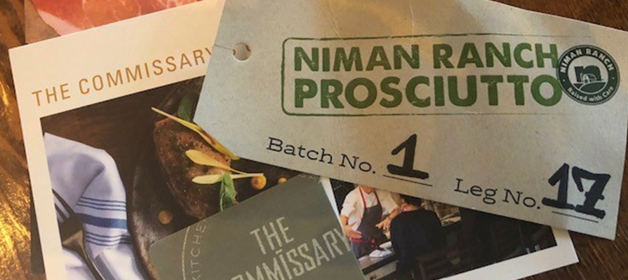 "Niman Ranch Unveils First Ever U.S. ""Certified Humane"" Prosciutto to the Bay Area"