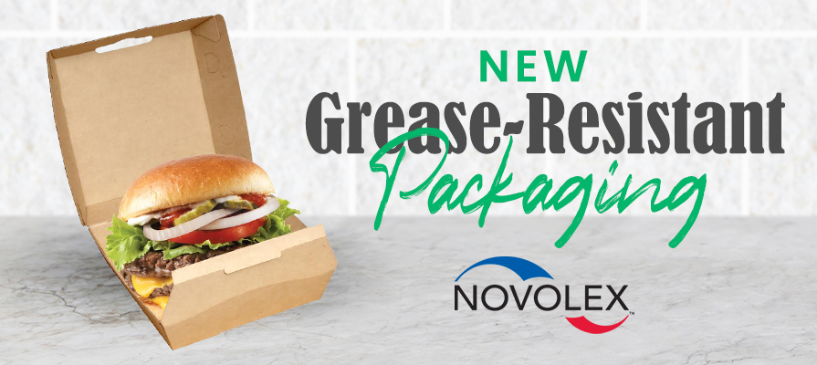 Novolex Unveils New Non-Fluorinated, Grease-Resistant Wraps and Clamshells