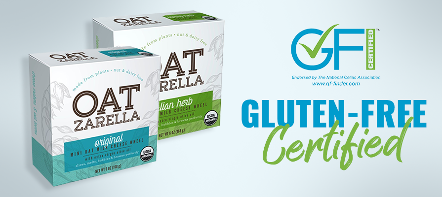 OATzarella Announces Official Gluten Free Certification