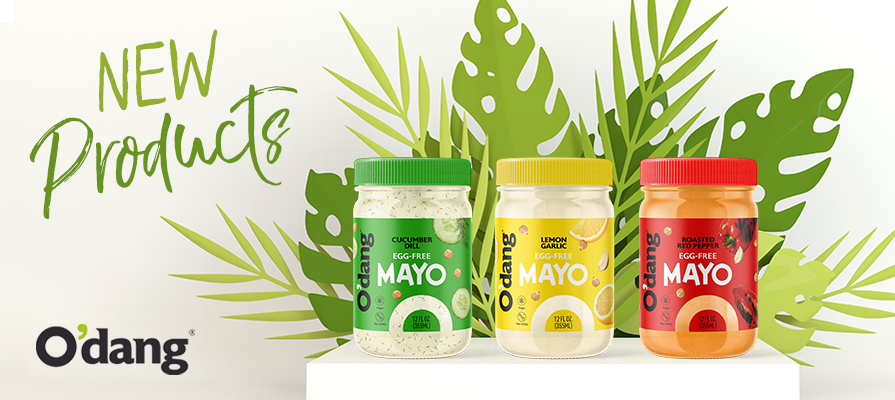 O'dang® Foods Expands Into New Product Category With the Launch of Egg-Free, Dairy-Free, Full Flavor Vegan Mayo Line