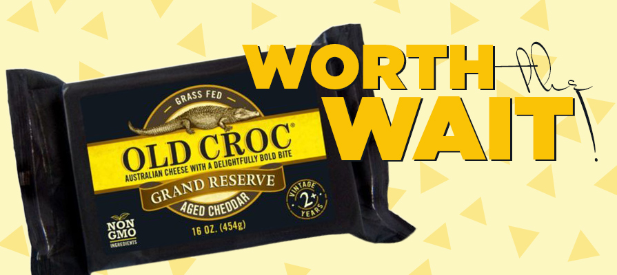Old Croc Announces Grand Reserve 2-Year-Aged Australian Cheddar Cheese