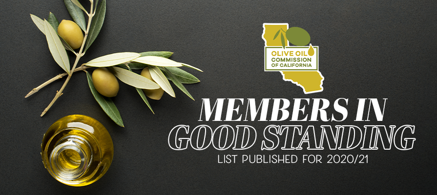 Olive Oil Commission of California Publishes 'Members in Good Standing' List for 2020/21