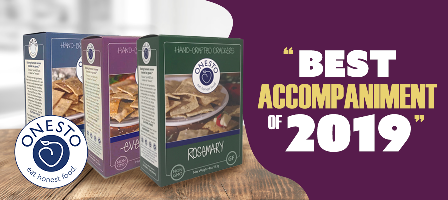"Onesto Crackers Named ""Best Accompaniment of 2019"""