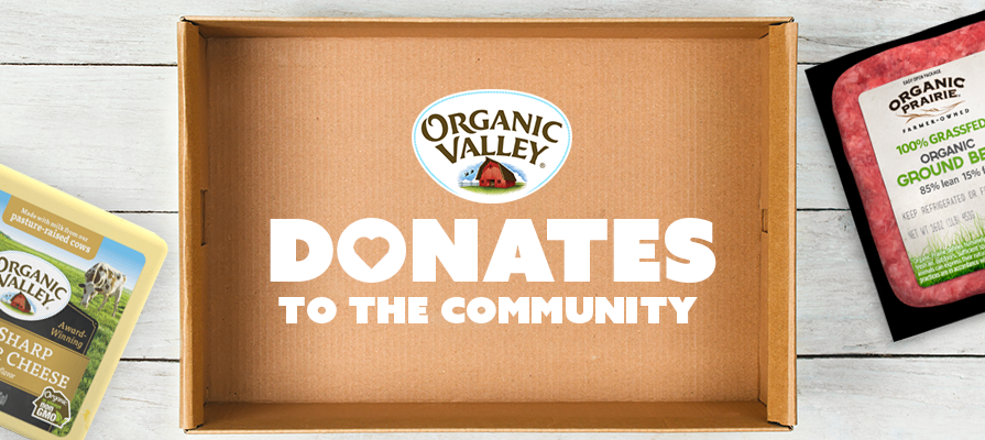Organic Valley Makes Nationwide Dairy and Meat Donations