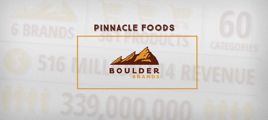 Pinnacle Foods Acquires Boulder Brands
