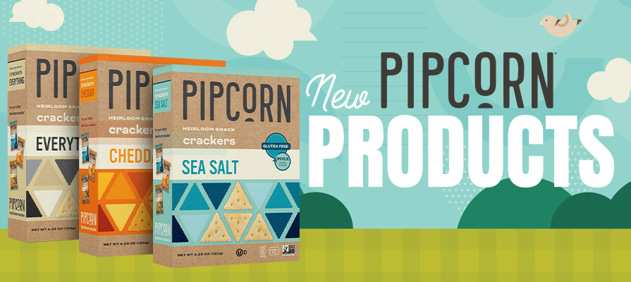 Pipcorn Reveals New Upcycled Heirloom Snack Crackers