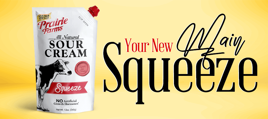 Prairie Farms Launches New Sour Cream Pouches