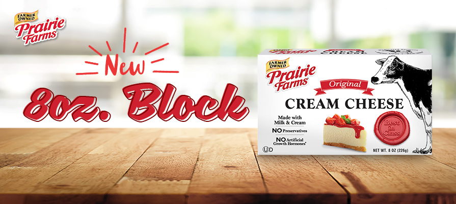 Prairie Farms Introduces New 8 Oz Cream Cheese Format